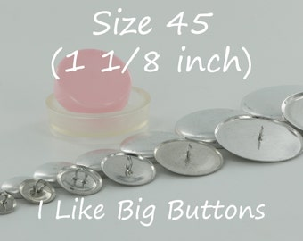 100 WIRE BACK Size 45 (1 1/8 Inch) Fabric Cover Buttons/Button (Ships from the USA) Use to make Fabric Covered Buttons