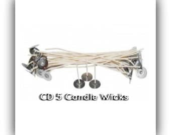 CD 5 Wicks, Candle Making Wicks, Wicks for Candles, Core less Wicks, Candle Wick Supplies, Candle Supplies, 10 pack