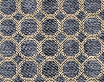 Blue Octagon Jaquard Geometric Pillow Covers in Dax Baltic Designer Fabric