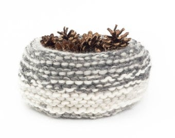 WOOLY nest bowls - attractive + practical, polychromatic bowls - greys*