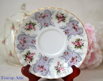 Royal Albert Love Story Series Jennifer Replacement Saucer Only, English Bone China Saucer,  ca. 1962-1980