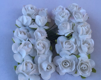 White Mulberry Paper Flowers