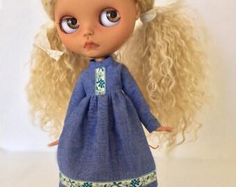 SALE Sweet Denim Dress for Blythe
