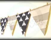 Teepee Banner-Little Man Party-Nursey Decor-Party Banner-Baby Shower-Little Warrior