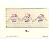 """English Smocking Plate """"Mige"""" by The Children's Corner"""