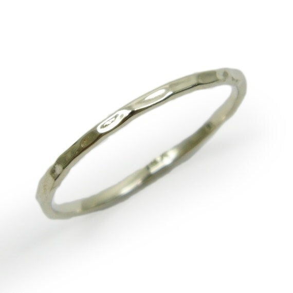 14k white gold thin 1 5 mm wedding band matte wedding