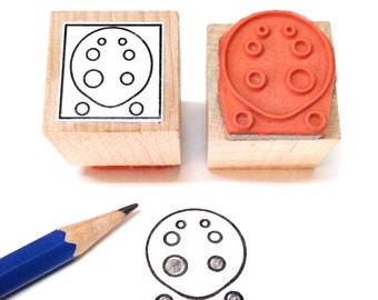 Ocarina Fingering Rubber Stamp -    A great teacher and student aid. ( Musician, Music, Woodwind)