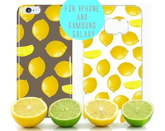 Lemon iPhone 6 Case Citrus iPhone 7 Plus Case Fruit iPhone 6s Case Lemon Samsung Galaxy S8 Case Lemon Pattern Samsung Galaxy s6 Edge Cover