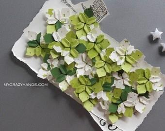30+ wedding petals || table decorations | origami flowers hydrangea ||| paper flowers || wedding flowers -spring garden