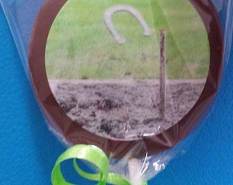 24 Fathers Day horseshow backyard bbq Chocolate Lollipops