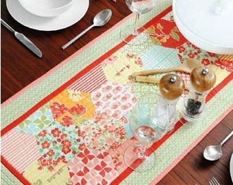 PDF Pattern: Half Hexie Table Runner