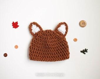 Baby Boy Hat Newborn Baby Boy Hat Fox Hat Photography prop Photo Prop Newborn Knit Hat