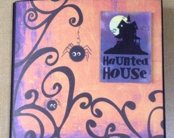 Haunted House Halloween Pre Made Scrapbook Album * Just Add Photos *