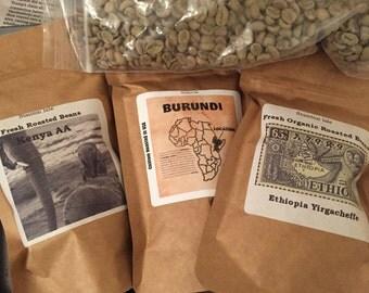 Best of Africa Coffee Sampler Gift Kenya AA,Ethiopia and Burundi Coffee Beans