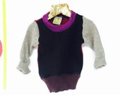 LAUGH 6-12m Baby Babies Jumper Pullover Pulli Top Sweater in Upcycled Wool Unisex