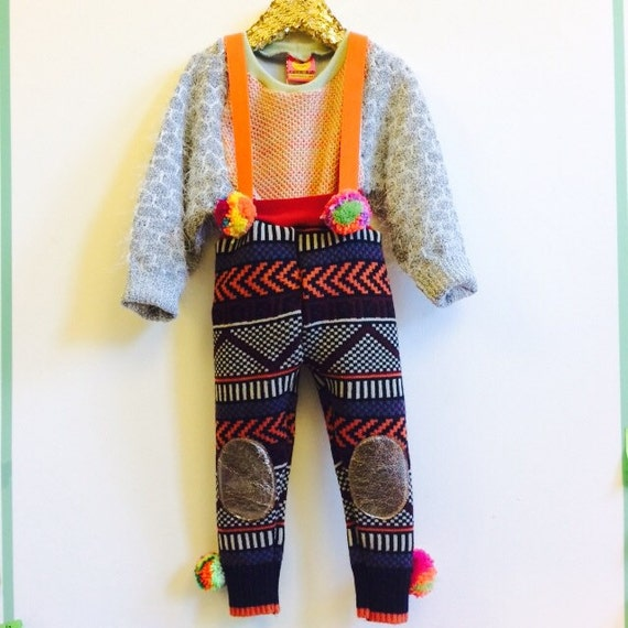 STEP Kids 4-5 Years Childrens Dungarees Onesie Playsuit Trousers Pants Upcycled Unisex