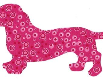 Dachshund - Doxie dog iron on applique DIY