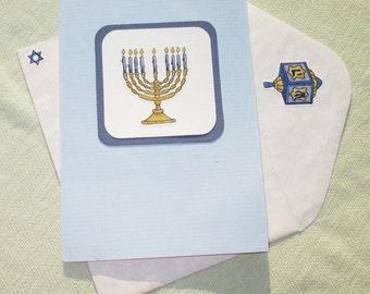 Happy Hanukkah Holiday Card - Handmade Cards