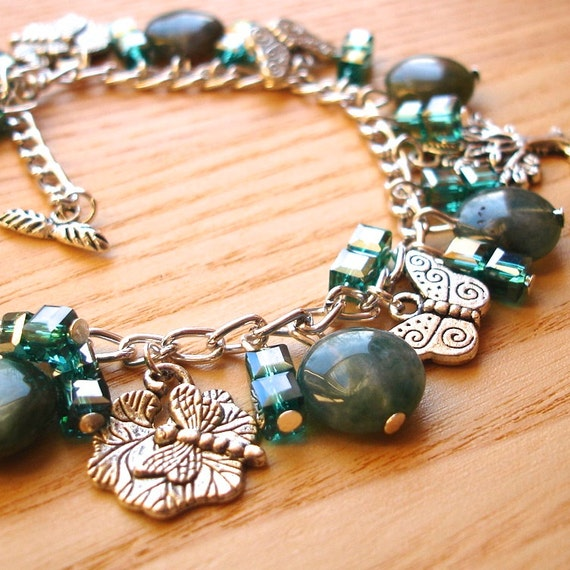 Woodland Tibetan Silver Charm Bracelet Jewellery - Unique Mothers Day Gift