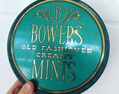 Bowers Mint Tin - Teal Tin - Decorative Tin