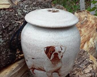 Dog Urn Bulldog Unique Urn