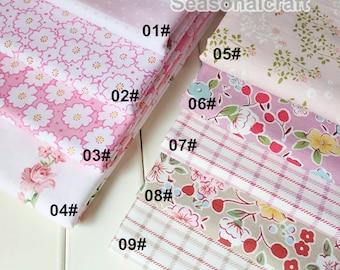 """Pink Bundle Pink Cotton Fabric Bundle- Pink Fabric Fat Quarter Bundle, 9 Fat Quarters Pieces each 40x50cm 16""""X20"""" (QT713-M)"""