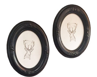 Vintage Oval Frame Set