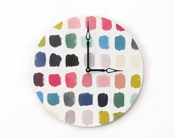 Sale, Wall Clock,  Watercolor Decor,  Decor and Housewares, Decor and Housewares, Home and Living,Unique Wedding Gift,