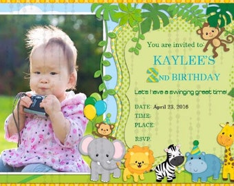 Boy Zoo Birthday Invitation