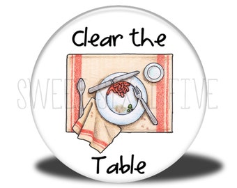 Clear the Table - Chore Magnet