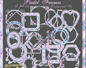 Pastel Frames Digital Scrapbook Kit