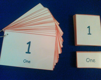 Numbers Flashcards, Montessori Learning, 3 Part Cards, Number Cards, Laminated, 1-30 / Montessori Preschool, Kindergarten, Kids Educational