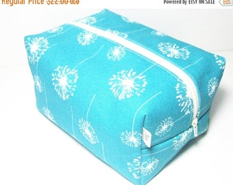 CHRISTMAS In JULY SALE Turquoise Makeup Bag  - Cosmetic Pouch -  Lunch Bag - Wet Bag -Waterproof Bag