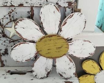 Weathered Flower - vintage, garden - shabby chic decor