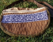 patchwork fanny pack  WOODSTOCK 04 :  handmade hippie patchwork durable unique one of a kind design