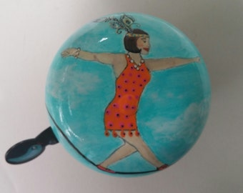 Walking the Tightrope Circus Life bicycle bell unique bike accessories bicycle accessory cycling art hand painted crowd pleaser