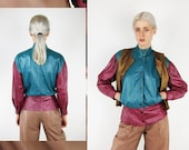 GIORGIO ARMANI 80s Colorblock_New Wave Finest Leather Jacket
