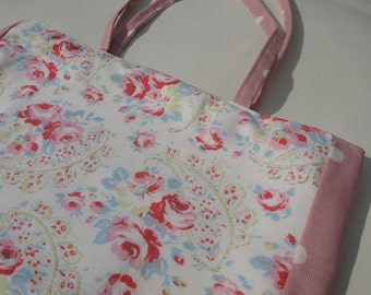 Shopping bag - tote - made with Cath Kidston paisley duckcloth