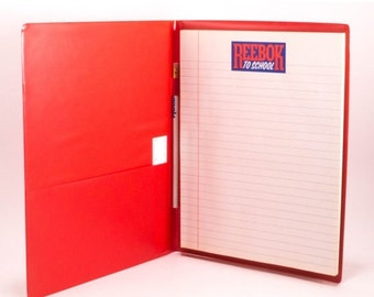Vintage Reebok Notebook Cover School Supplies Ruler Pencil Included 1990s