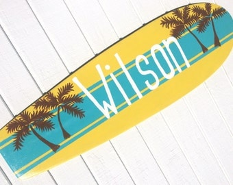Large Personalized Beach Sign Decoration for your Beach Themed Bedroom Decor - 36 inches