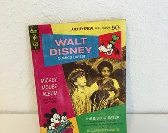 vintage comic book, disney golden digest, disney magazine, number 35, the biscuit eater