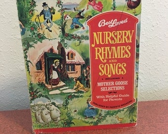 Vintage Book, Best Loved Nursery Rhymes and Songs, Published by Parents Magazine