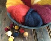 NEW Indian Corn Sampler-Needle Felting Wool - Wet Felting Wool-Nuno Felting-Spinning