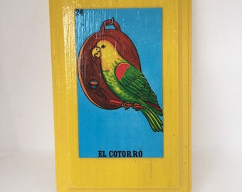 Loteria Cotorro Wall Plaque