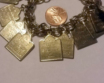 Gold 10 Commandments Bracelet