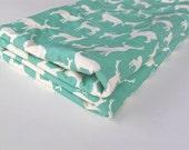 Baby Blanket, Elk Organic Blanket with Ivory Minky