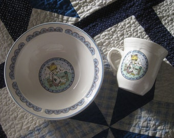 1980's Precious Moments Dinnerware-Bowl & Cup