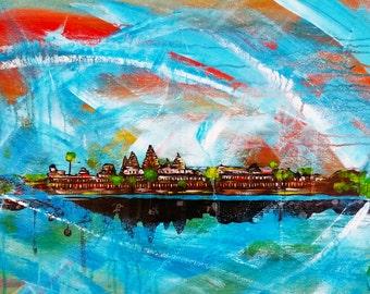 Angkor Wat (4x6 Wood)
