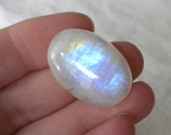 Moonstone Cabochon Blue Flash 30x20x8.5mm Rainbow Moonstone Cabochon Gemstone Cabochon Ma7 Meditation Take10% Off Moonstone Jewelry Supplies
