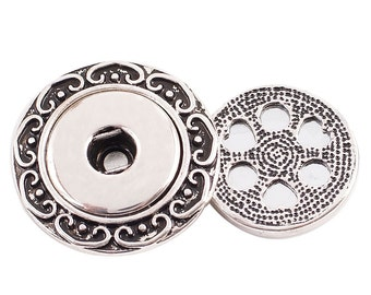 1 Magnetic Brooch - FITS 18MM Candy Snap Charm Jewelry Silver KC0341 Cp0109